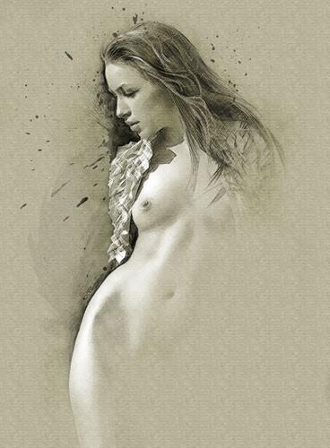 一幅具有美感、创造力和视觉效果的素描——塞维多夫·拉图什