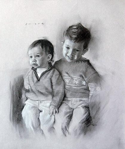 名人素描38幅菲钦素描风格作品