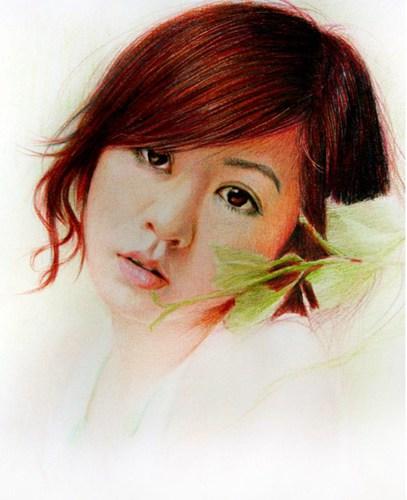 美丽的彩色铅画打动了人们的心。