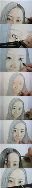 彩铅素描步骤二
