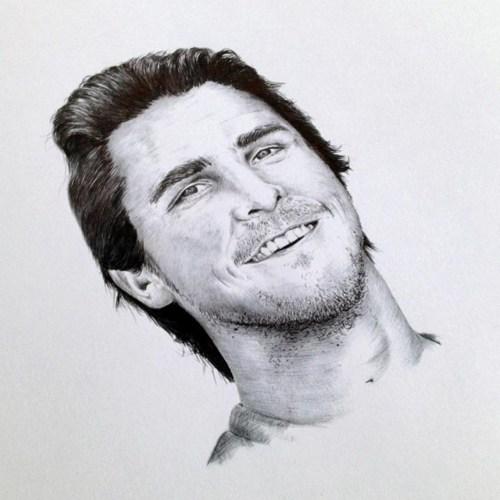 保罗·沃克的素描头像