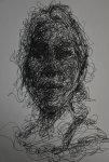 线条飞快地勾勒出人物的轮廓和表情。
