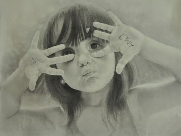 一个小女孩的素描