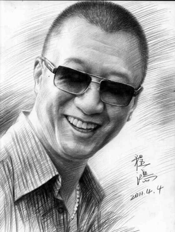 孙洪磊的素描头像