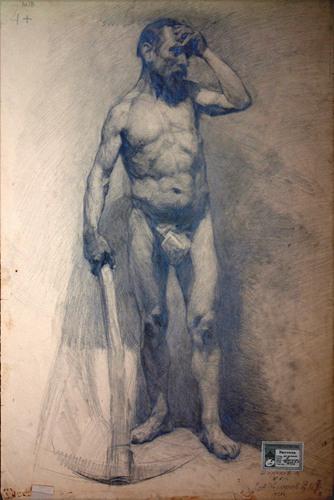 列宾美术学院77幅人体经典素描画像