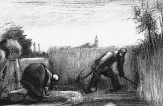梵高的九幅素描