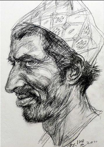 丁宋健勾勒了这个人物的肖像。