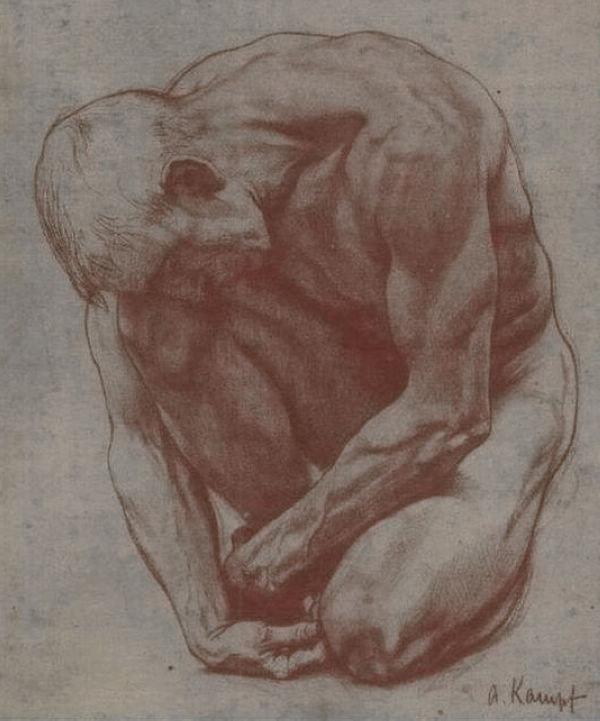 康普夫素描人物画