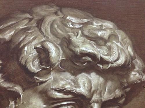 干湿混合技术素描作品