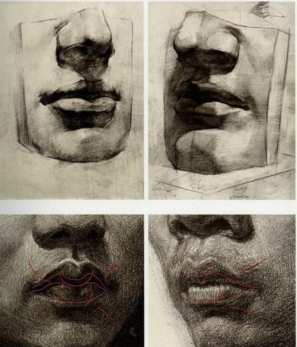 嘴素描画法