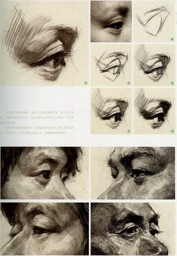 眼睛分享素描图片