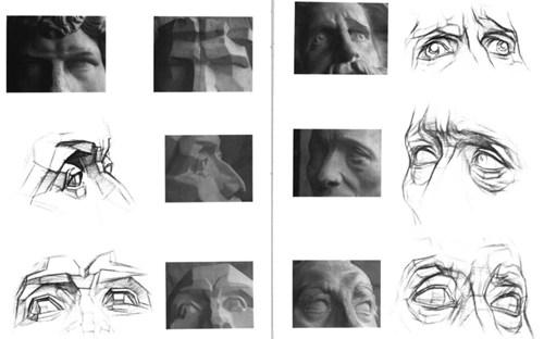 素描眼睛石膏