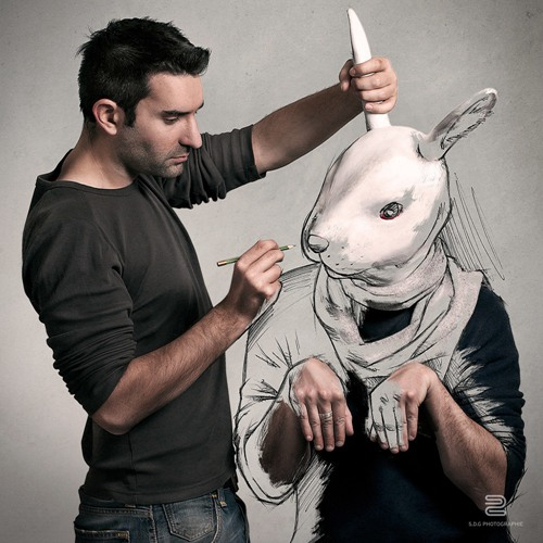 拍摄时塞巴斯蒂安·德尔·格罗斯遇到素描。