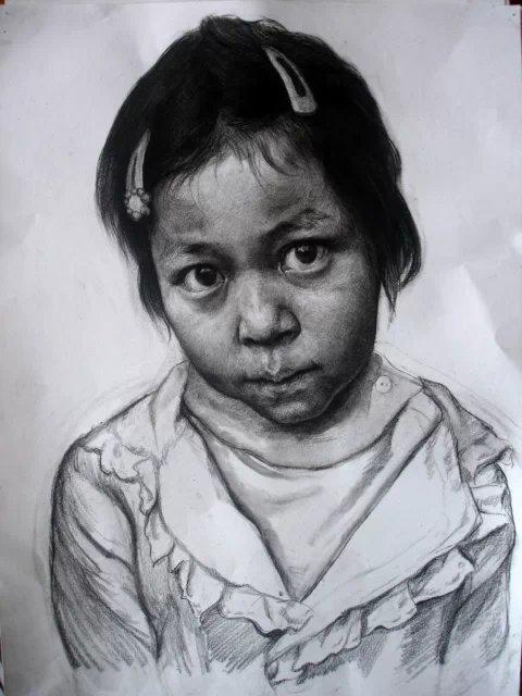 儿童素描头像