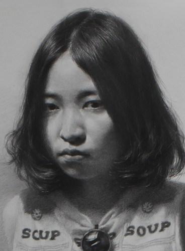 杨梅陈赞野素描人物女学生