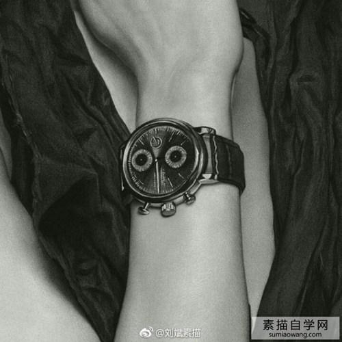 刘斌素描:模特演员杜鹃花素描欣赏