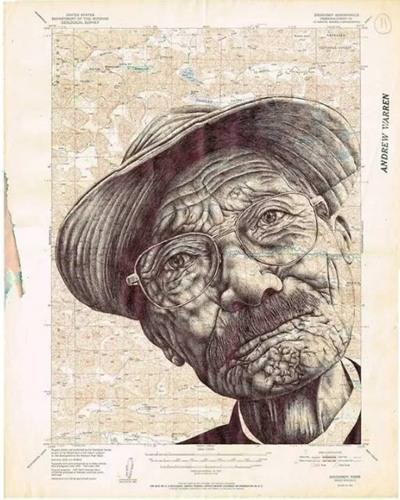 伟大的素描师可以在废纸和旧信封上画出伟大的素描。