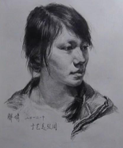 杨梅捷京素描头步视频教程