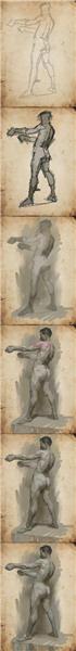 绘制人体图块的绘制步骤