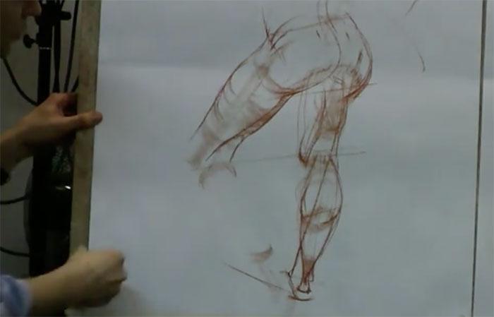 列宾美术学院人体素描教学视频
