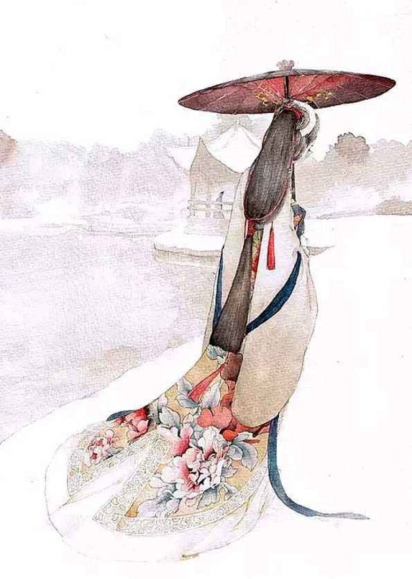 统一色调的仿古素描水彩画实在是太美了。