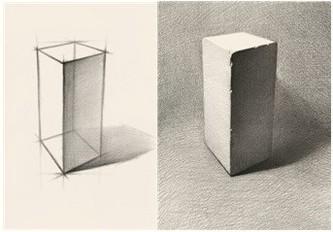 素描时如何掌握高度和宽度的比例关系?