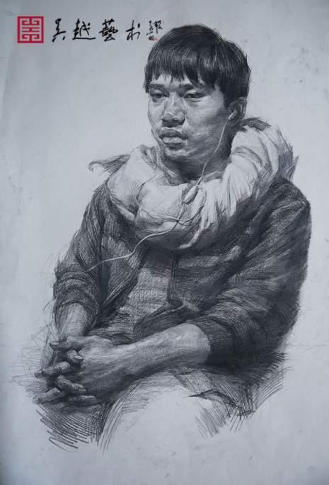杭州吴越工作室优秀素描肖像作品