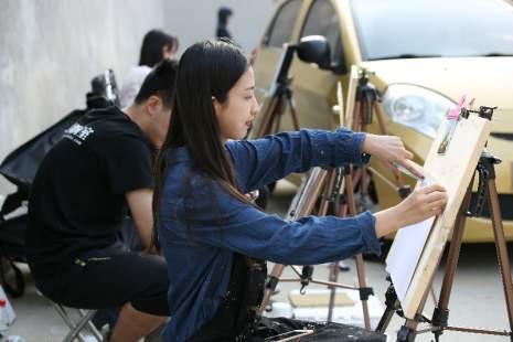 北京水木园艺馆日常工作室艺术类学生的生活状况
