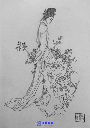 观音菩萨、观音、仙女、仙女、画线画、杭州理想工作室