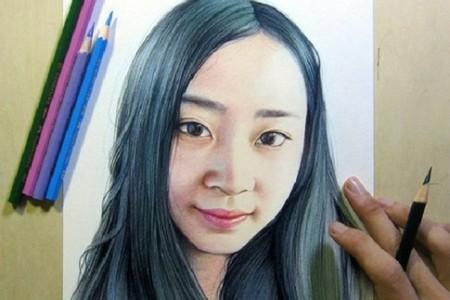 彩铅人物素描画法步骤
