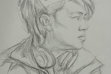 传奇画室李昊泽素描头像范画