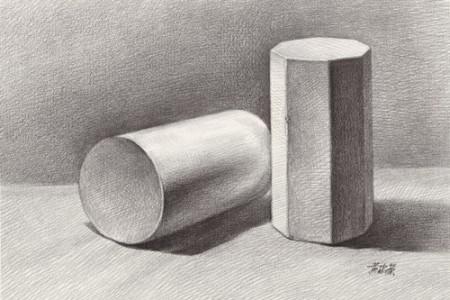 画好素描石膏几何体6个注意