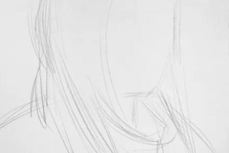 女青年人头素描绘画技巧
