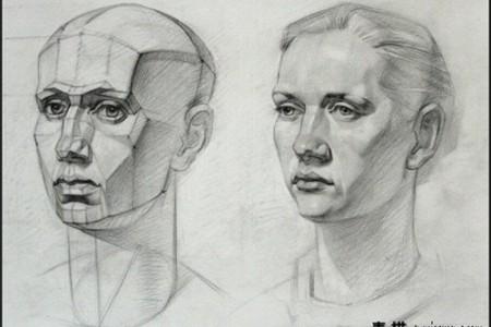 看列宾美院学生怎么学画素描头像