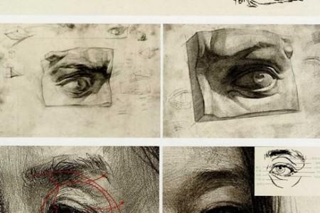 素描头像五官画法 眼睛 鼻子 嘴 耳 眉