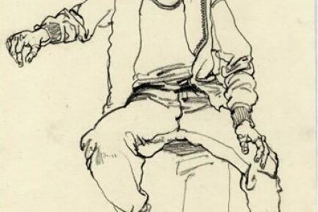 速写人物坐姿腰部画法总结