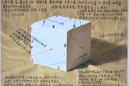 素描几何体正方体画法步骤图