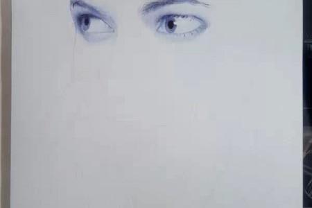 圆珠笔素描头像局部画法步骤图