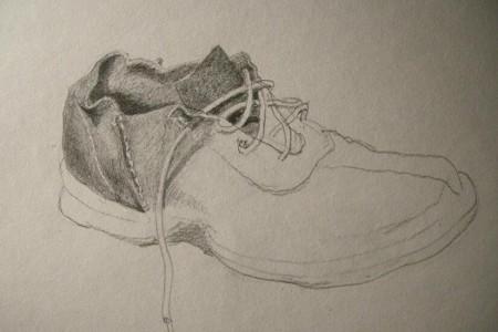休闲皮鞋素描画 步骤 画法