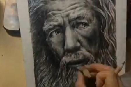 霍比特人:甘道夫·邓不利多素描手绘视频