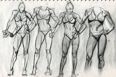 人物全身速写 人体速写概括范画