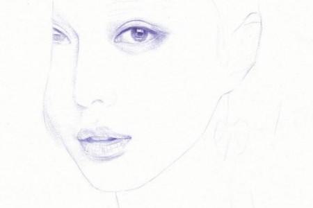 精美圆珠笔素描头像步骤图 圆珠笔素描教程