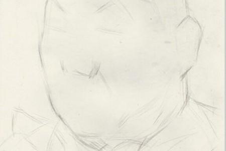 胖男人素描头像画法步骤教程
