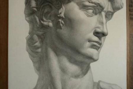 素描画点评:石膏像大卫、场景素描静物
