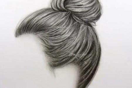 美女素描头发的画法视频教程
