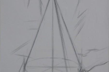 石膏几何体:圆锥体画法教程