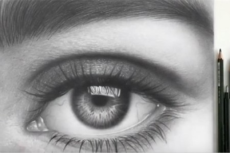 10小时,10万个来来回回,画出厉害的超写实素描眼睛、眼眉!