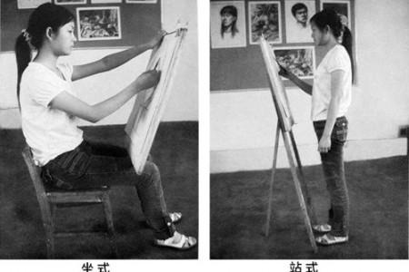素描作画姿势 画素描正确姿势
