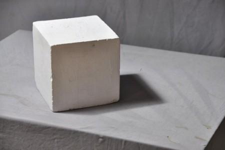 石膏几何体:正方体 超清照片 背光