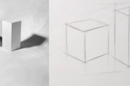 正方体 长方体组合素描图片 视频教程